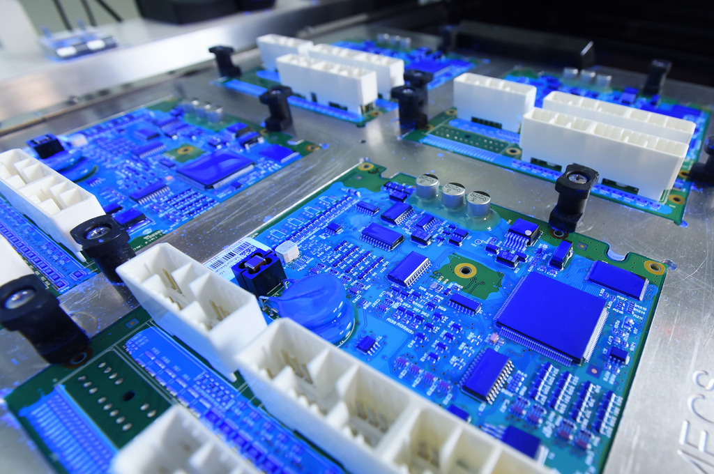 Conformal coating placement